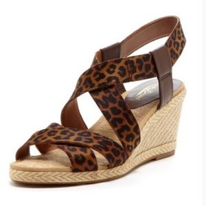 NWOT Lucky Brand Leopard Print Wedges